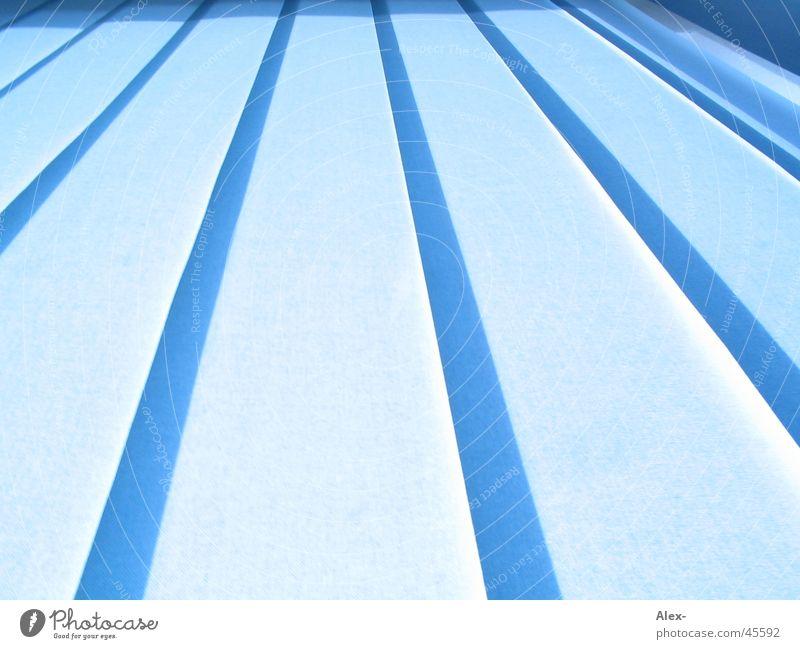 Blue lamellas Window Stripe Light Infinity Far-off places Long exposure Disk Escape Line