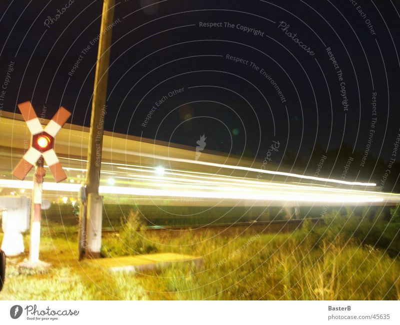 level crossing Railroad crossing Control barrier Light Night Transport
