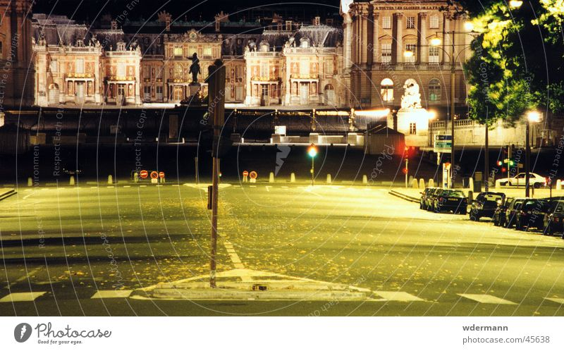 Versailles at night Castle Night France Europe street