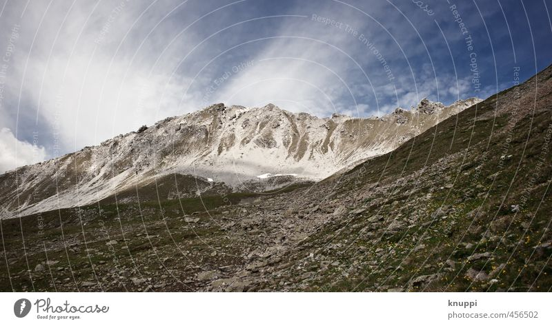 tempest Nature Landscape Elements Air Sky Clouds Sun Sunlight Summer Climate change Beautiful weather Wind Gale Ice Frost Snow Drought Rock Alps Mountain Peak