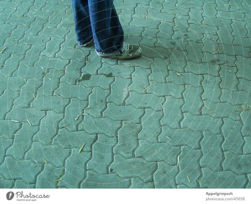 Man Gray Footwear Legs Concrete Jeans Pants