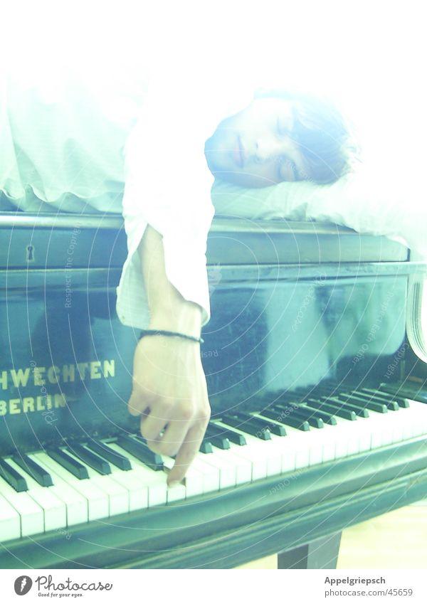 Man Hand White Black Music Arm Piano Tone