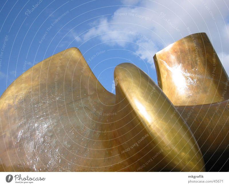 Sky Blue Art Gold Statue Trade fair Exhibition