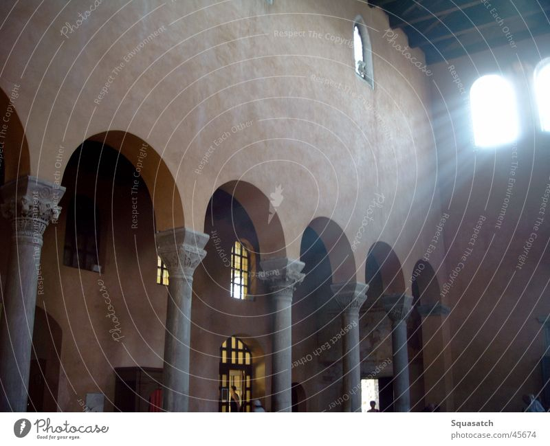 Window Religion and faith Column Croatia House of worship Shaft of light Beam of light World heritage Porec