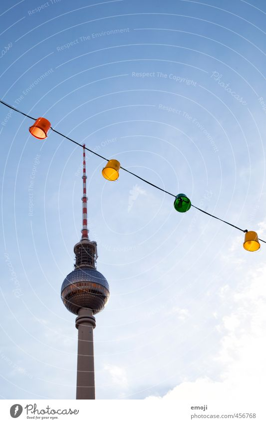 Nature Blue City Environment Downtown Tourist Attraction Capital city Lampion Berlin TV Tower