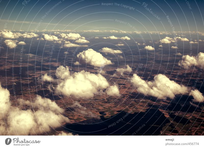 fluffy Environment Nature Elements Sky Clouds Beautiful weather Natural Blue Earth Colour photo Exterior shot Aerial photograph Deserted Day