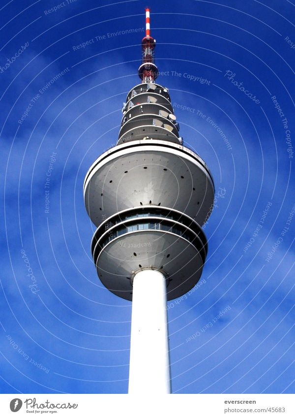 Sky Blue Lighting Gray Hamburg Television Radio (broadcasting) Television tower Spark Transmit Frequency TV station Tower ARD NDR ZDF