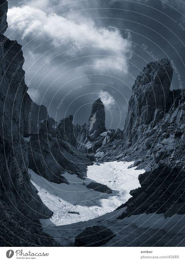 Clouds Snow Mountain Rock Dolomites