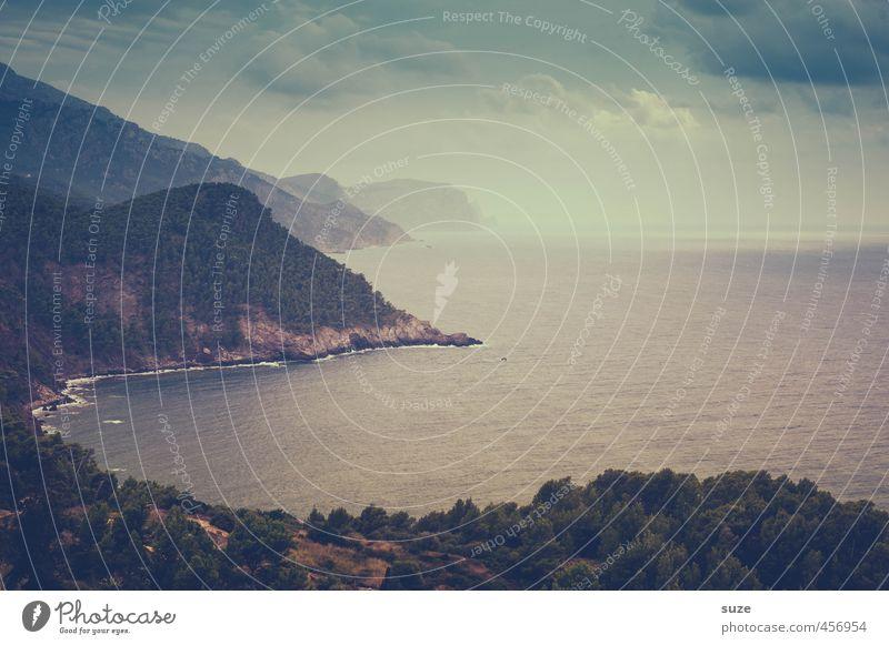 Sky Nature Vacation & Travel Summer Ocean Loneliness Landscape Forest Dark Mountain Coast Horizon Earth Idyll Wild Island