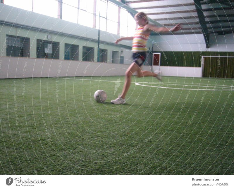 Girl Sports Soccer Ball sports Shot Artificial lawn