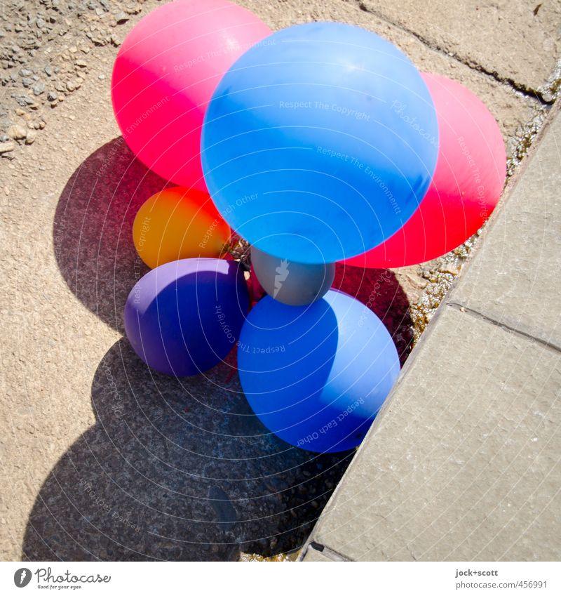 Colour Joy Street Bright Party Lie Simple Warm-heartedness Change Balloon Kitsch Plastic Attachment Passion Traffic infrastructure Under