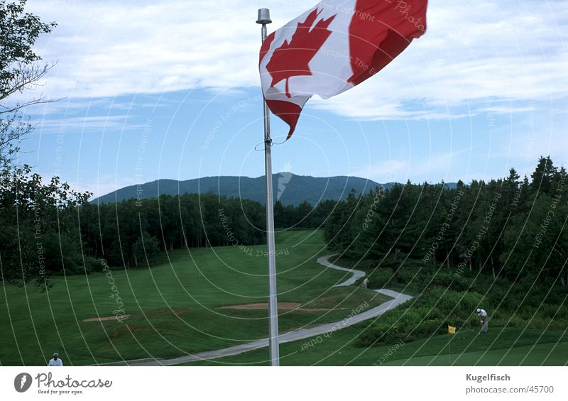 Green Sports Mountain Wind Lawn Flag Golf Canada Golf course Judder