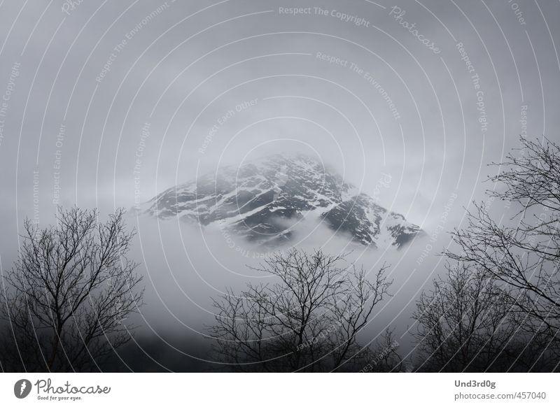 Calm Landscape Mountain Fog Adventure Snowcapped peak Creepy Norway Secrecy