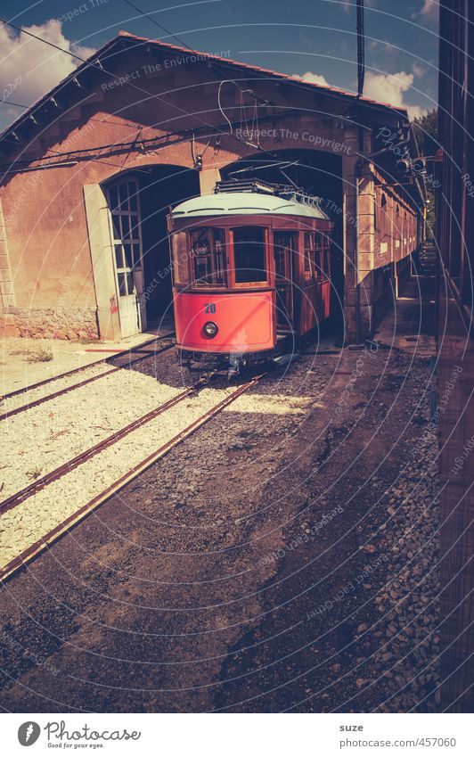 funicular Vacation & Travel Tourism Sightseeing Summer Building Transport Means of transport Traffic infrastructure Passenger traffic Lanes & trails Railroad
