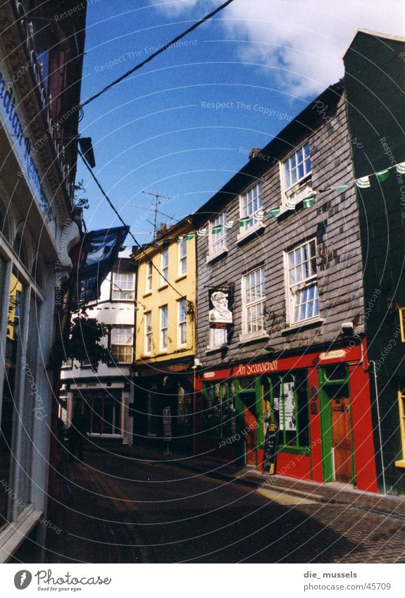 colorful city 2 Town Multicoloured Ireland Pub Alley Architecture Old