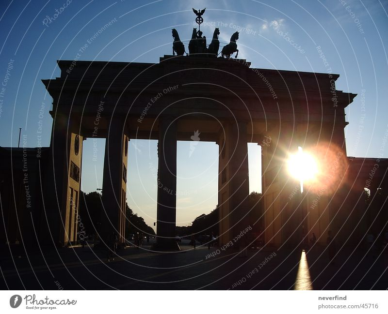 Gate to the sun Brandenburg Gate Historic Berlin Sun