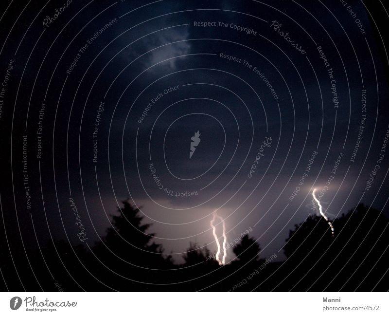 stormy night Lightning Night Storm Dark Thunder and lightning