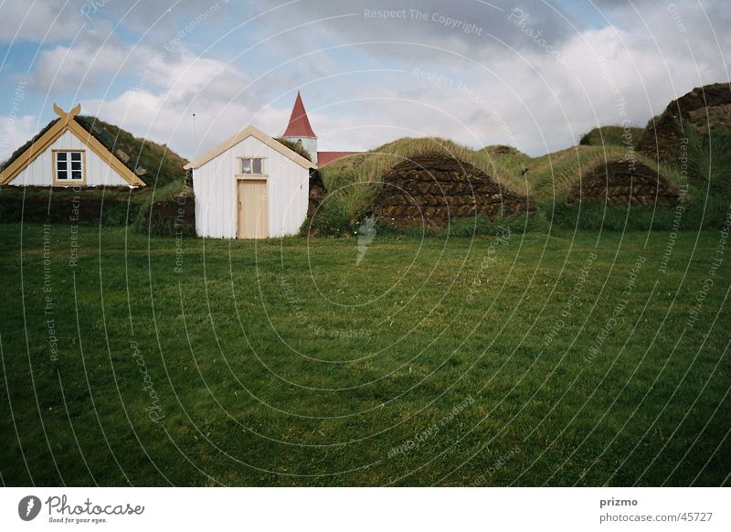 Vacation & Travel Architecture Culture Farm Iceland Tradition Peat Open-air museum Glaumbaer