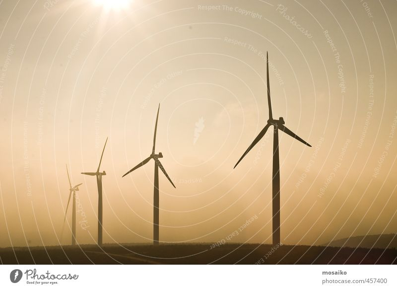 wind energy - windmill - climate change - renewable energy Industry Technology Energy industry Renewable energy Wind energy plant Energy crisis Environment Sky