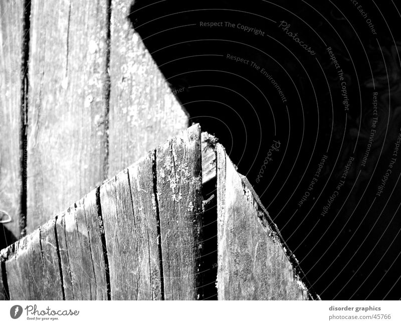 Water White Black Wood Corner Footbridge Slit Gray scale value Wood flour