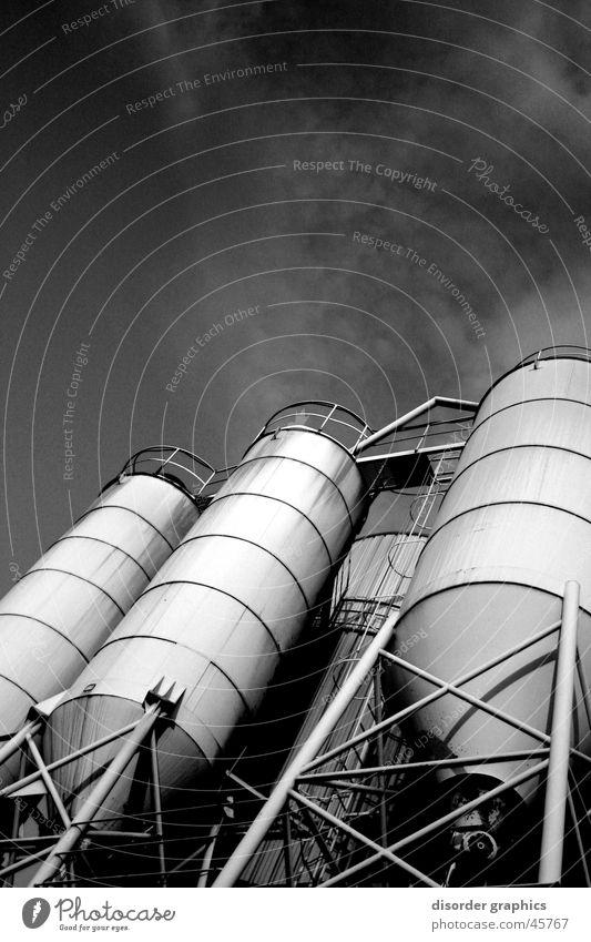 industrial heaven White Black Worm's-eye view Industry Sky
