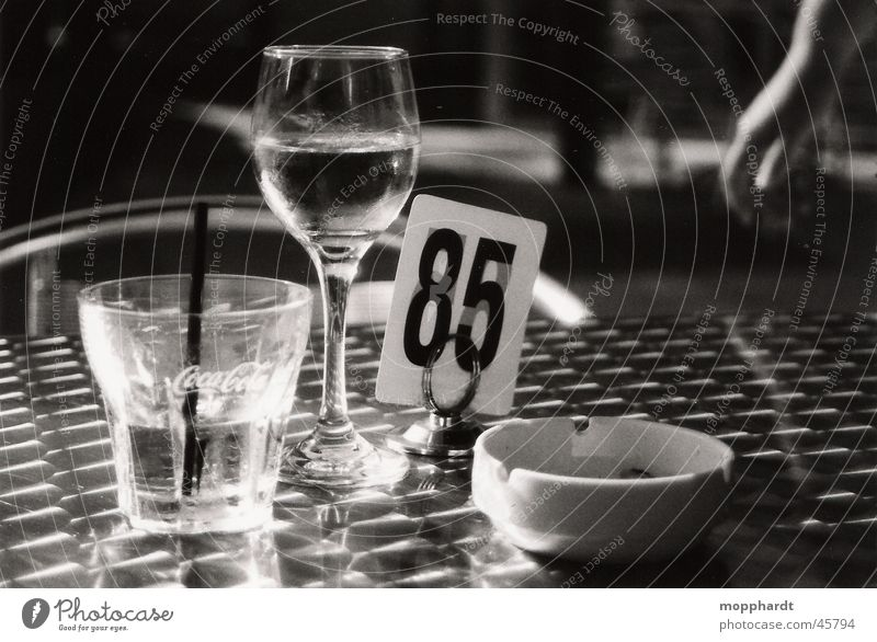 85 Beverage Restaurant Bar Ashtray Calm Wine glass Black & white photo Alcoholic drinks Glass Water