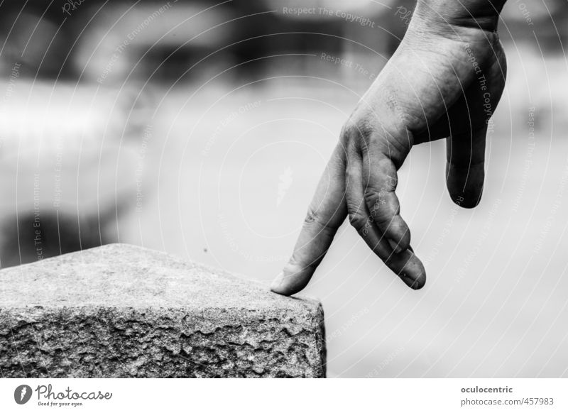Beautiful Hand Playing Stone Going Dance Esthetic Fingers Point Wrinkles Near Stress Motionless Still Life Hover Ballet