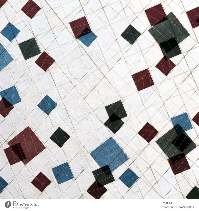 Old Blue White Red Black Wall (building) Wall (barrier) Line Uniqueness Double exposure Mosaic