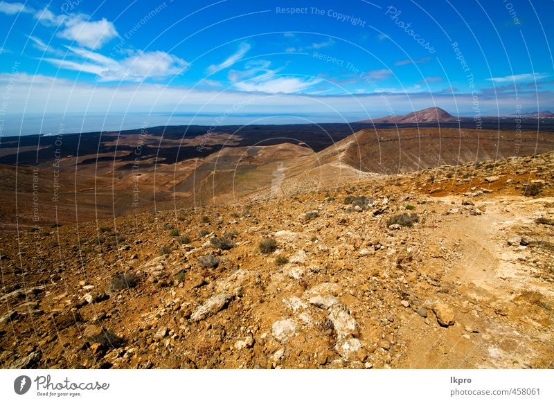 volcanic timanfaya rock stone sky hill and summer Vacation & Travel Tourism Trip Adventure Summer Island Mountain Nature Landscape Plant Sand Sky Clouds Flower