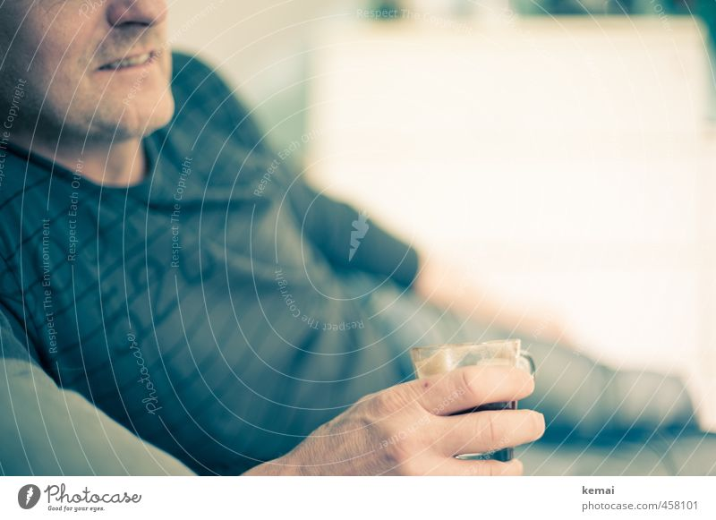 coffee break Beverage Coffee Leisure and hobbies Human being Masculine Man Adults Life Mouth Hand Fingers Upper body 1 45 - 60 years Lie Bright Serene Calm