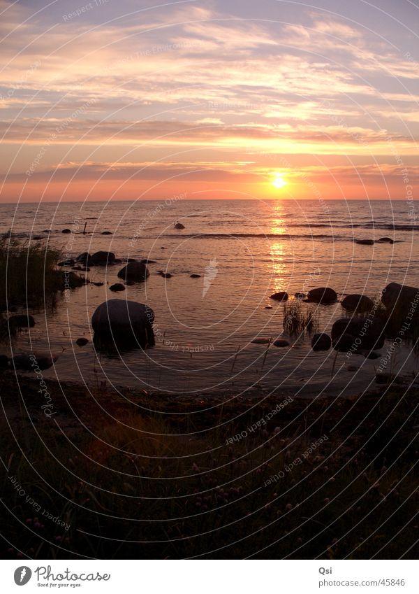 Sunset on Gotland Nature reserve National Park Europe snäk Sweden