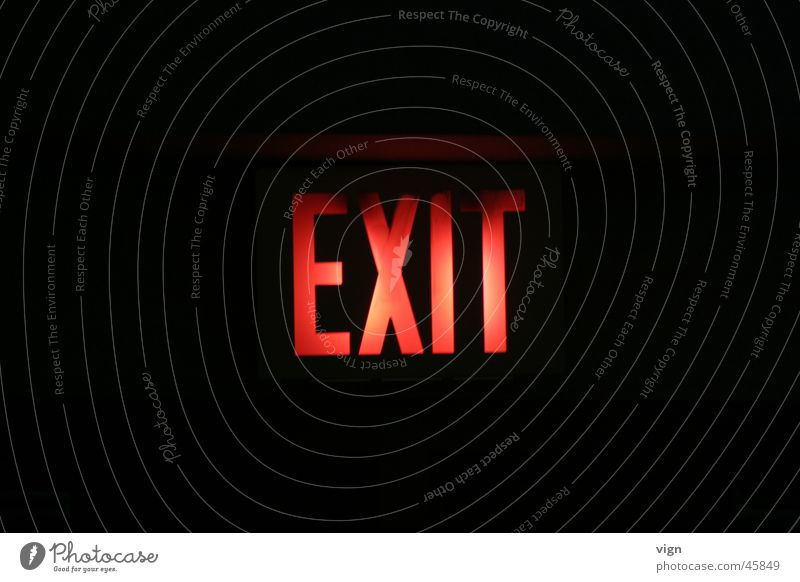 exit Way out Neon sign Signs and labeling Lamp