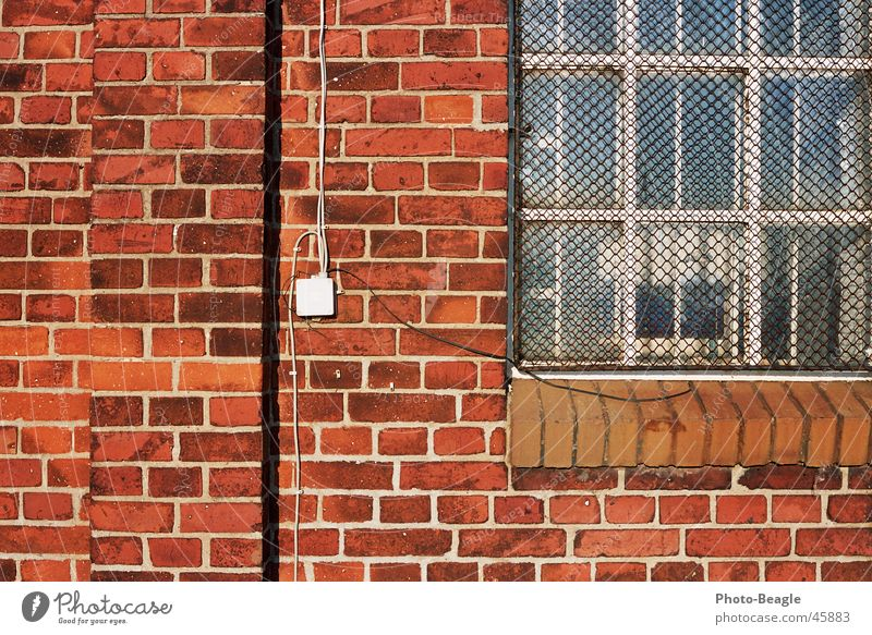Bricks 3-4 Wall (barrier) Wall (building) Background picture Stone wallpapers bricks red brick red-brick window Brick wall