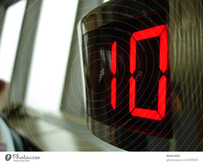 Modern Glass Empty Digits and numbers Digital photography 10 Display Electronics Nostalgia for former East Germany Diode