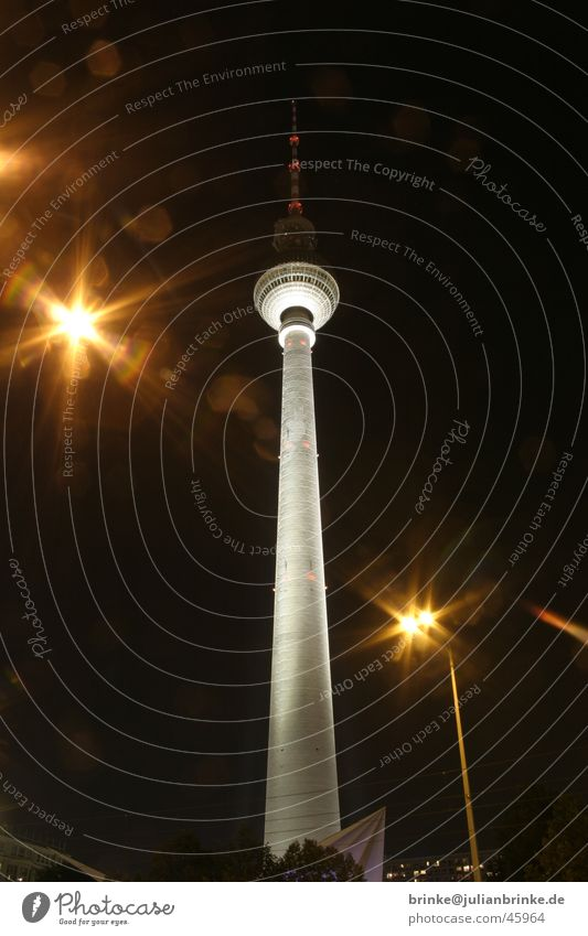 Sky Dark Berlin Bright Germany Television Tower Radio technology