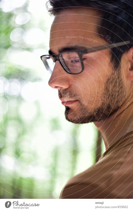 spectacled Masculine Young man Youth (Young adults) 1 Human being 18 - 30 years Adults Eyeglasses Designer stubble Beautiful Colour photo Exterior shot Day