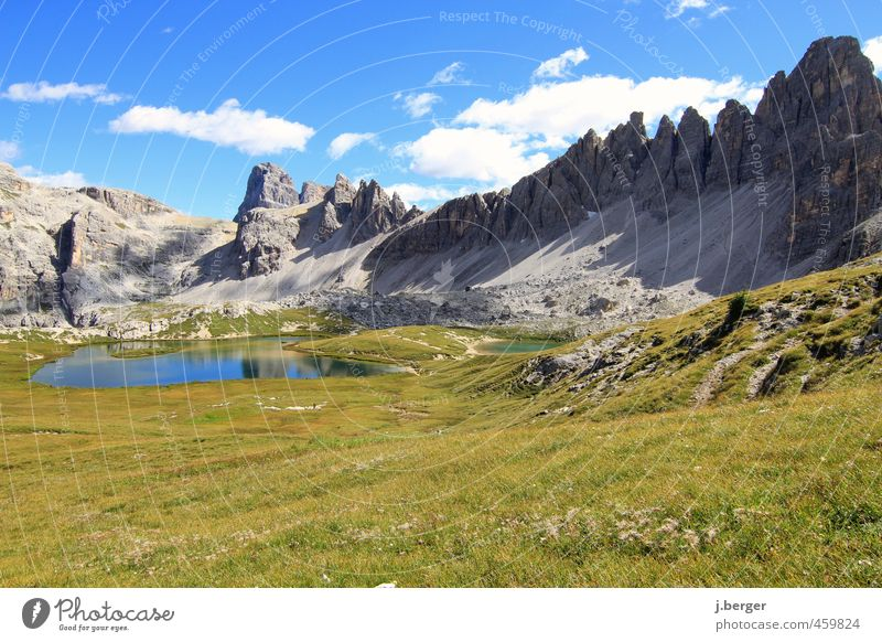 Dolomites Vacation & Travel Tourism Trip Far-off places Freedom Summer Summer vacation Sun Mountain Hiking Nature Landscape Plant Sky Clouds Beautiful weather