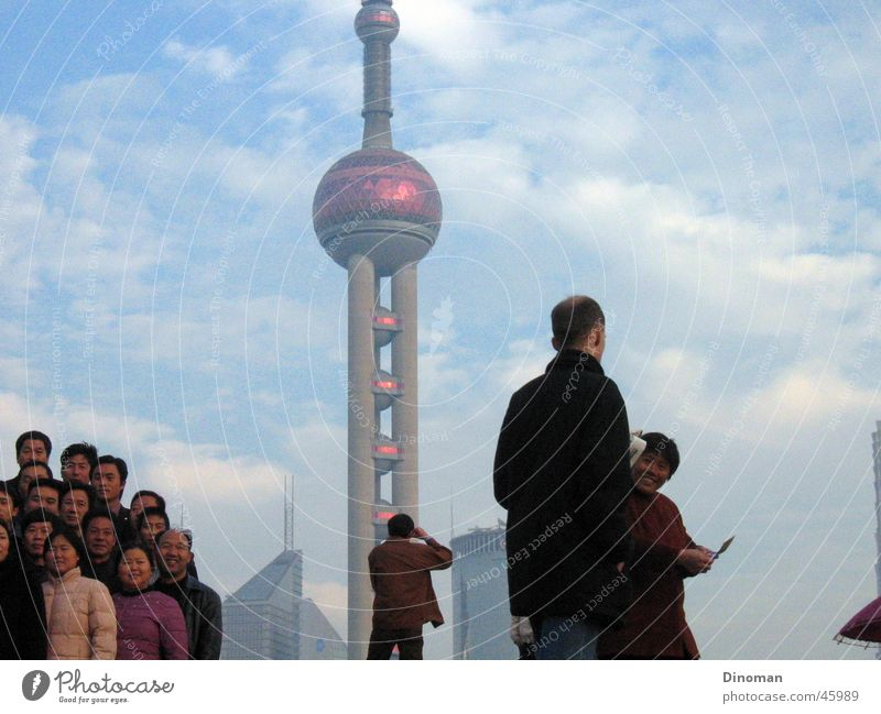 Pearl of Asia, Shanghai China Clouds Chinese Photographer Tourist Pu Dong Sky Multiple Bundle Television tower
