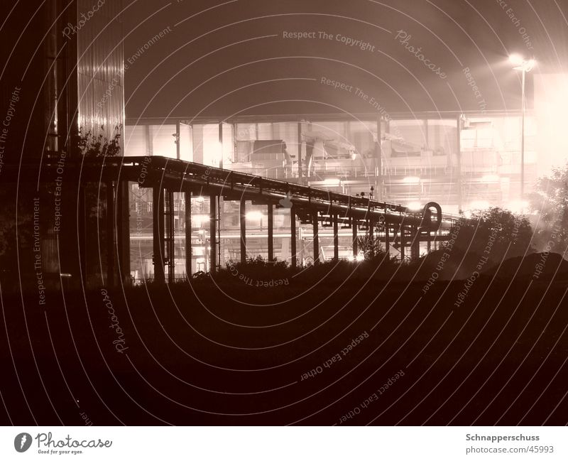 Pipeline at the Skyline Abstract Long exposure Industrial Photography Sepia Perspective