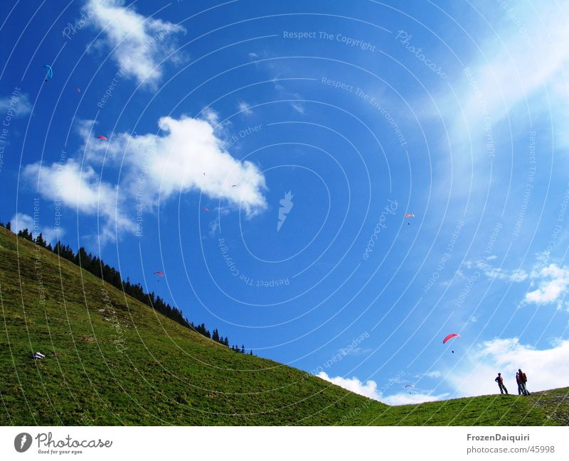 Sky White Blue Clouds Mountain Air Hiking Earth Hover Slope Federal State of Tyrol Paraglider Kitzbühel Alps Parachute Westendorf