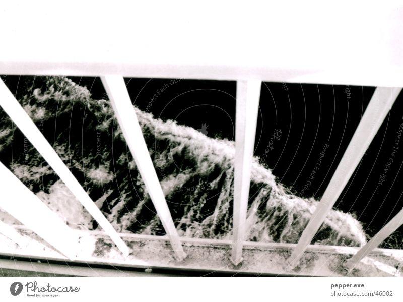 Water Ocean Sadness Watercraft Wind Handrail Foam Grating Fisherman Ferry Railing Sea water Sicily Messina