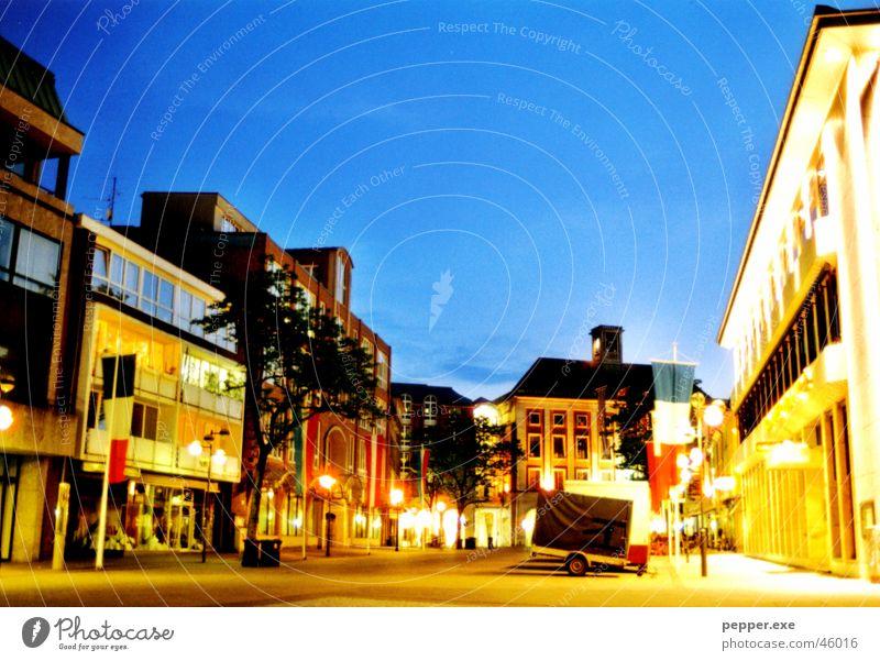 Novesia nocturnus Neuss district Town Night Old town Evening Sky citylight