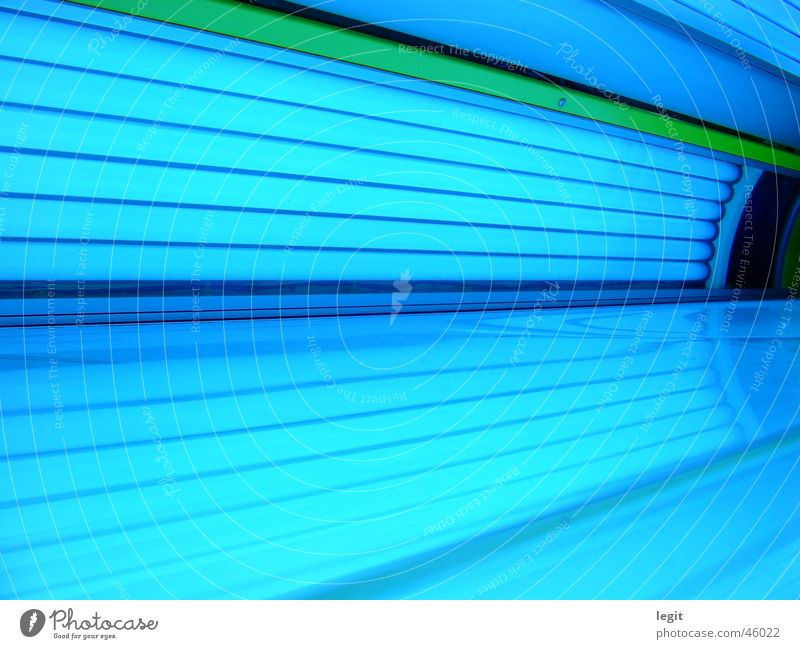 solarium Tanning bed Light Sunbathing Lighting Interior shot UV on