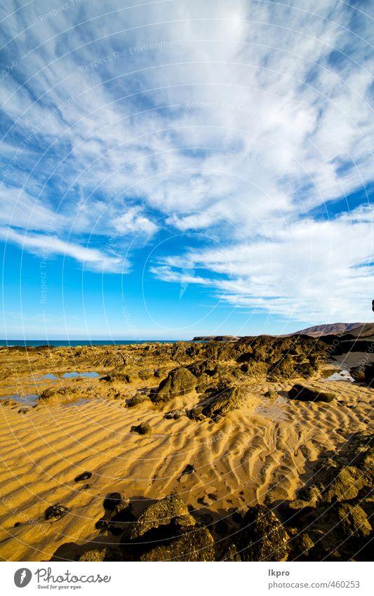 spain rock stone sky cloud beach coastlin Sky Nature Vacation & Travel Blue Summer Ocean Relaxation Landscape Clouds Beach Yellow Coast Stone Sand Rock Brown