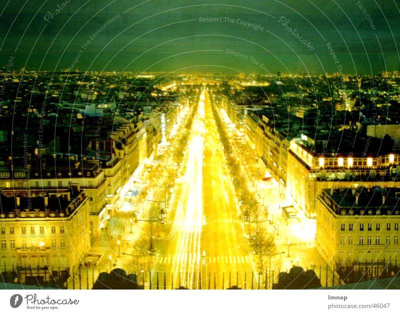 Street Car Bright Paris Champs-Elysées
