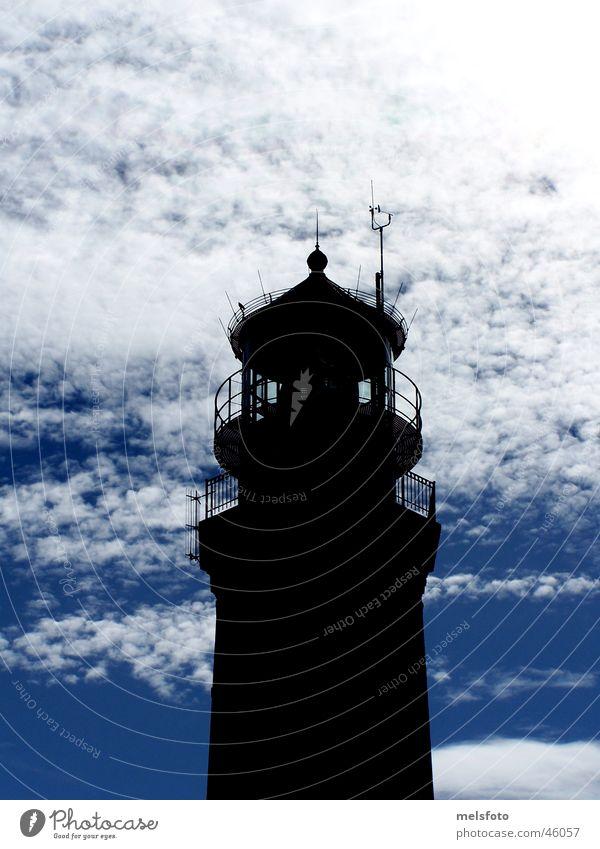 Greifswald Oie Lighthouse Clouds Back-light Mecklenburg-Western Pomerania Vacation & Travel griifswalder oie Baltic Sea Island