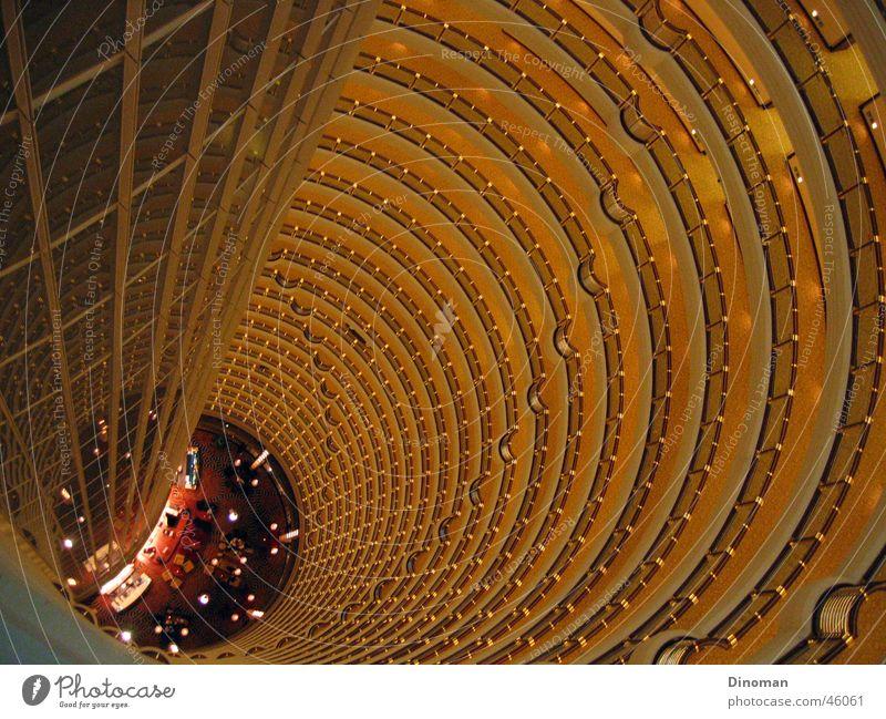 Jin Mao interior view Shanghai China Jin-Mao Buildings High-rise Grand Hyatt Hotel Story Round merrily Tall gallery Interior shot