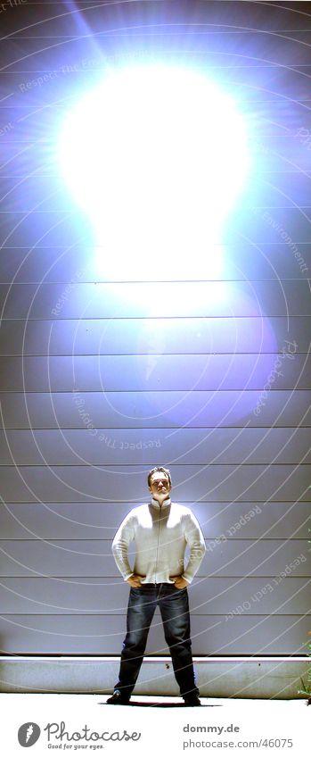 Man Stand Pants Jacket Warehouse Overexposure Würzburg Interior lighting