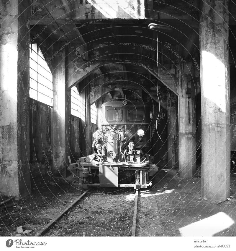Old Dark Bright Large Railroad Romance Historic Train station Warehouse Austria Mining Dismantling Industrial 2006 Engines
