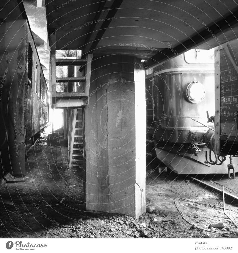 Old Dark Bright Large Railroad Romance Historic Train station Ladder Warehouse Austria Column Go up Dismantling Industrial